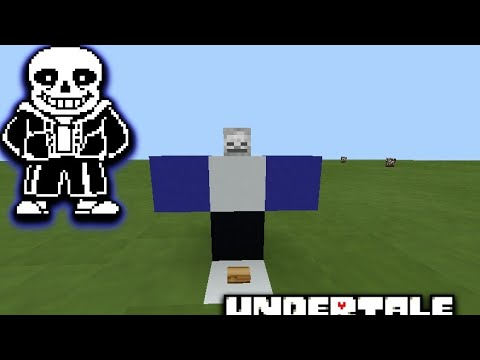 How To Summon Sans In Mcpe!
