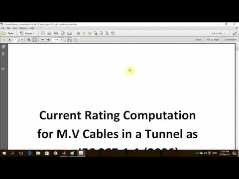 Calculating M.V Cables Ampacity inside a Tunnel Using MATLAB