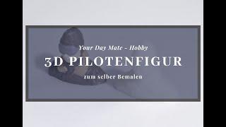 [Zubehör] 3D Pilot, aus 3D Drucker, Modellflugzeug Pilot, Piloten Figur klein, 22x24x12 mm, 1,8 gr