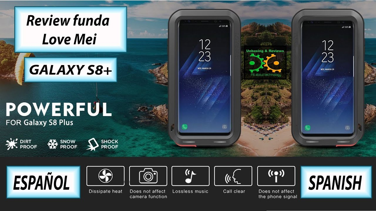 01c232412c2 Review funda case Armadura Love Mei Samsung Galaxy S8 plus . ESPAÑOL ...