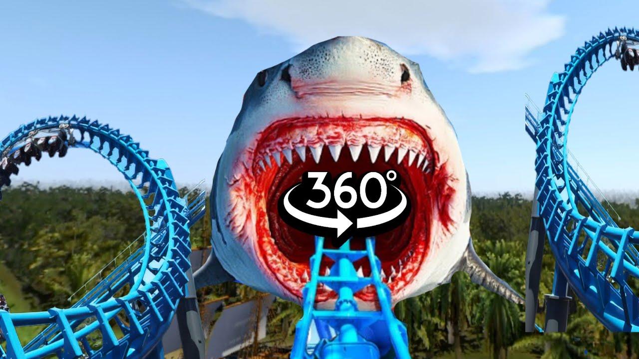 360 Video | Siren Head VR Roller Coaster Theme Park Part 1