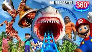 360 Video | Siren Head VR Theme PARK with Minecraft ROBLOX Sonic PIGGY Granny FORTNITE | ASTRONOMIA