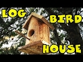 Log bird house