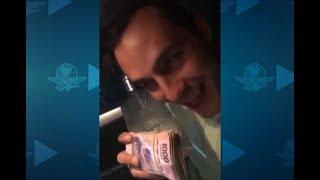 Difunden video de militante del PVEM con fajo de billetes y tequila