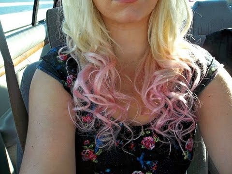 Dying My Hair Ombre Blonde To Pink Youtube
