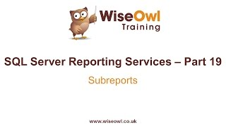Reporting Services (SSRS) Part 19 - Subreports