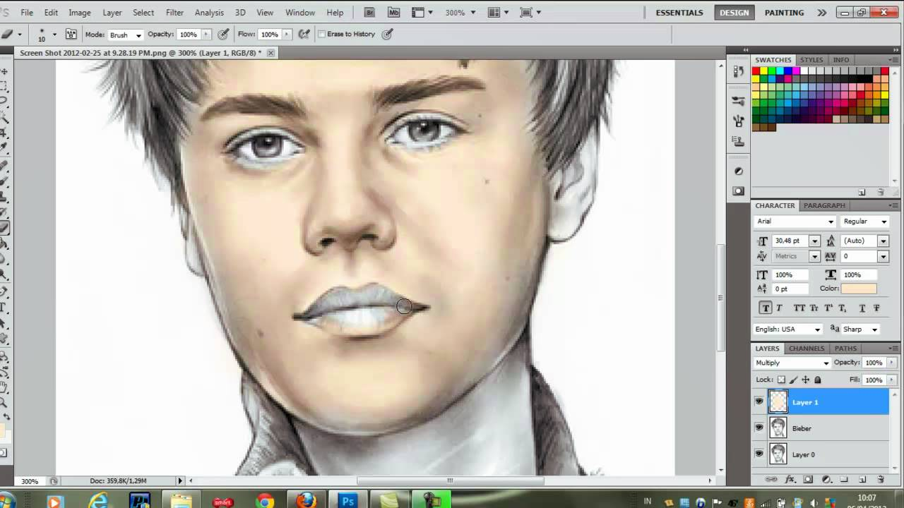 Photoshop cs5 color drawing tutorial youtube