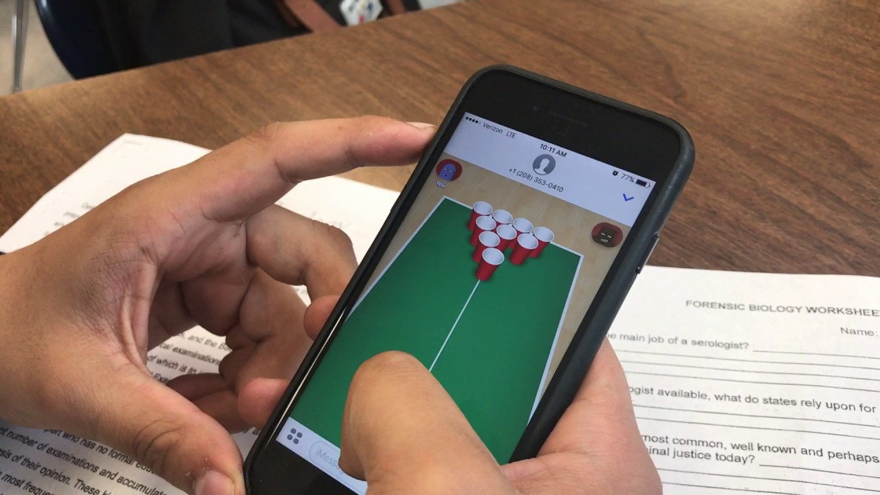 how to play cup pong on imessage