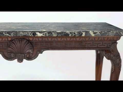 Marble Top Mahogany Console Table   Www.CuratorsEye.com   The Curatoru0027s Eye