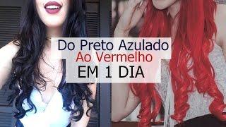 Do Preto Azulado Ao Vermelho EM 1 DIA | Karina Alves