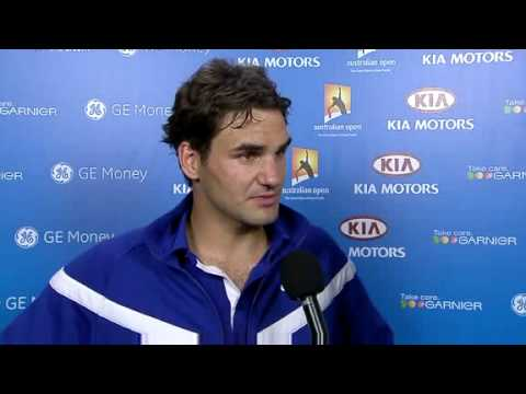 Roger wonders about Novak giving up (2009)