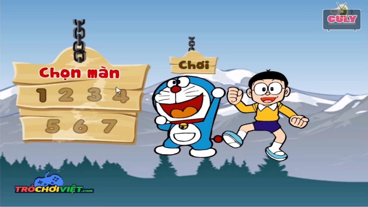 Trò chơi Doremon Nobita chạy môtô lụm chuông mèo máy thông minh   cu lỳ chơi game lồng tiếng vui