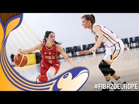 Lithuania v Serbia - Full Game - Classification 9-16 - FIBA U20 Women's European Championship 2017