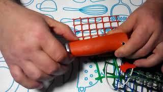 как сделать пластиковую ручку для ножа