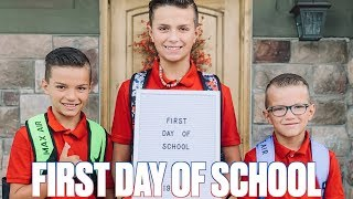 FIRST DAY OF SCHOOL 2019 | THREE BINGHAM BROTHERS GO BACK TO SCHOOL | LOCKERS AND LUNCHES