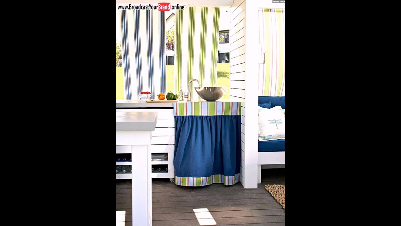 outdoor k che stoffbahnen vorhang unter sp le youtube. Black Bedroom Furniture Sets. Home Design Ideas