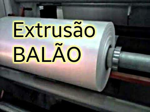 Extrusão BALÃO - Máquina HGR - Filme sanfonado para liner de big-bag
