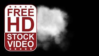 FREE Stock Videos – grey cloud smoke on black background 2D animation
