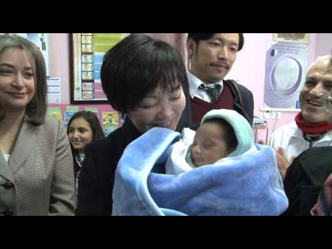Spouse of the Prime Minister of Japan visits Dheisheh refugee camp