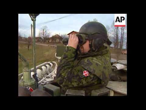 Bosnia-NATO IFOR Patrol /Briefing US Admiral Smith