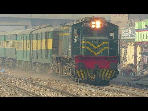 Pak Business Express | Sharp HGMU-30 Whistle | Crossing Sadiq Abad Railways Station