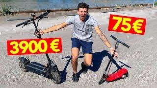 TROTTINETTE ÉLECTRIQUE À 75€ VS 3900€