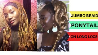 JUMBO BRAID PONYTAIL ON LONG LOCS