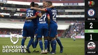 Cruz Azul 2-1 Lobos BUAP – GOLES Y RESUMEN – Apertura 2018 Liga MX Jornada 16