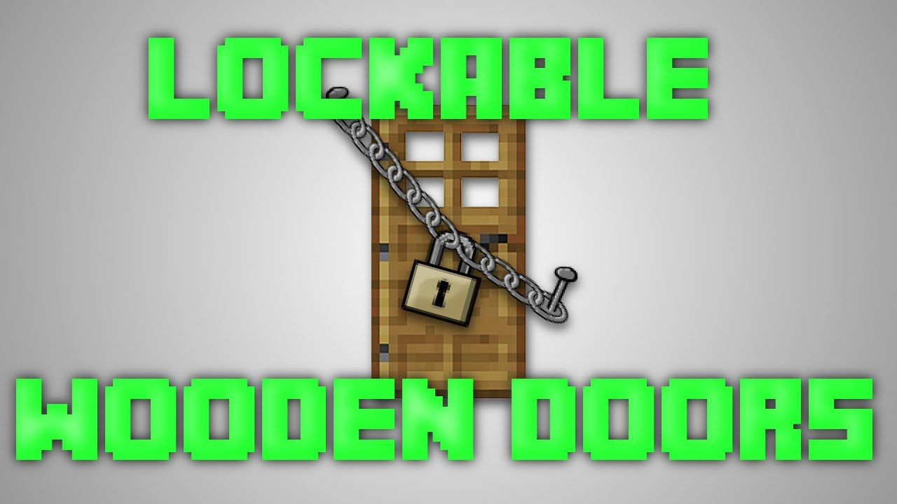 Minecraft Locking wooden doors [1.8] - YouTube