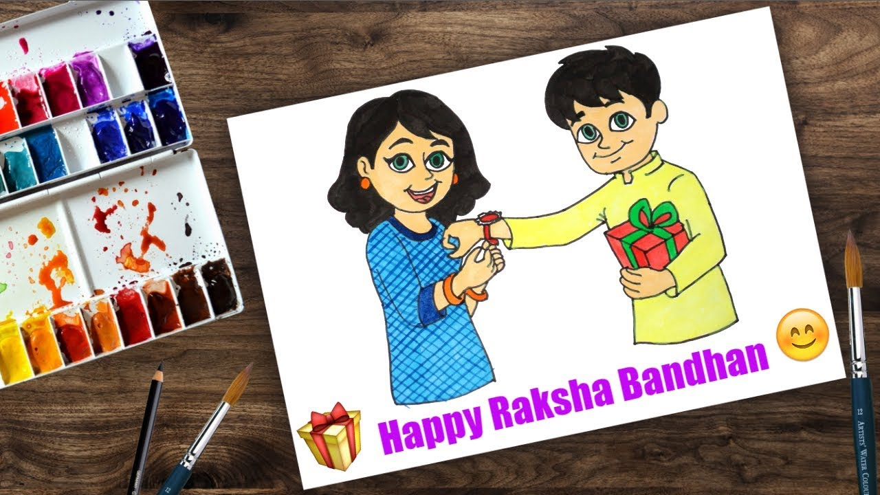 How To Draw Raksha Bandhan For Beginners Step By Step Youtube