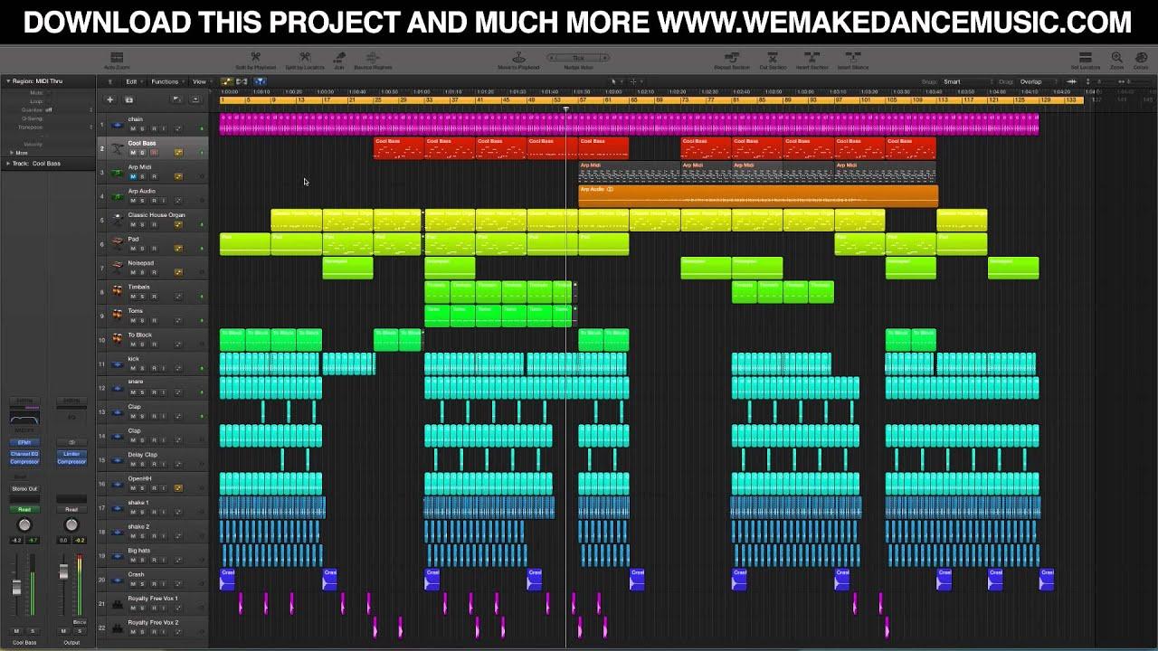 maschine mk2 logic pro x template