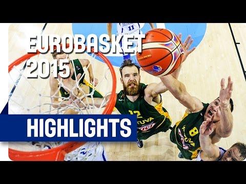 Estonia v Lithuania - Group D - Game Highlights - EuroBasket 2015