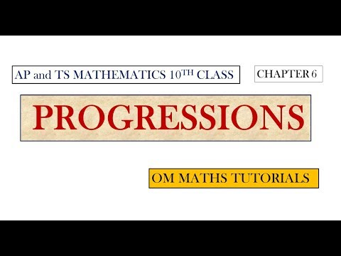 10th class Progressions 6.1 For TS and AP students