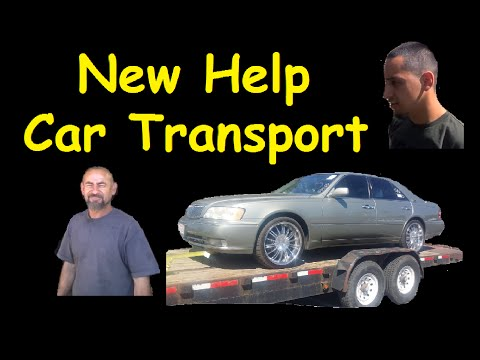 New Help Transport Car from Auction With Trailer Chaining Down Cars