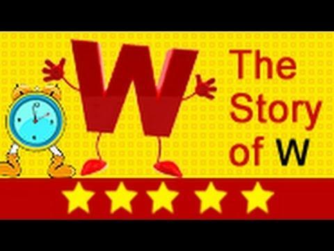 Alphabet Songs  Story Of Letter W for Nursery Kids