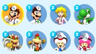 Dr. Mario World - All Characters Unlocked + Gameplay Showcase