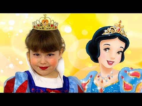 Disney Princess costume & Kids makeup Pretend play Agnes like SnowWhite