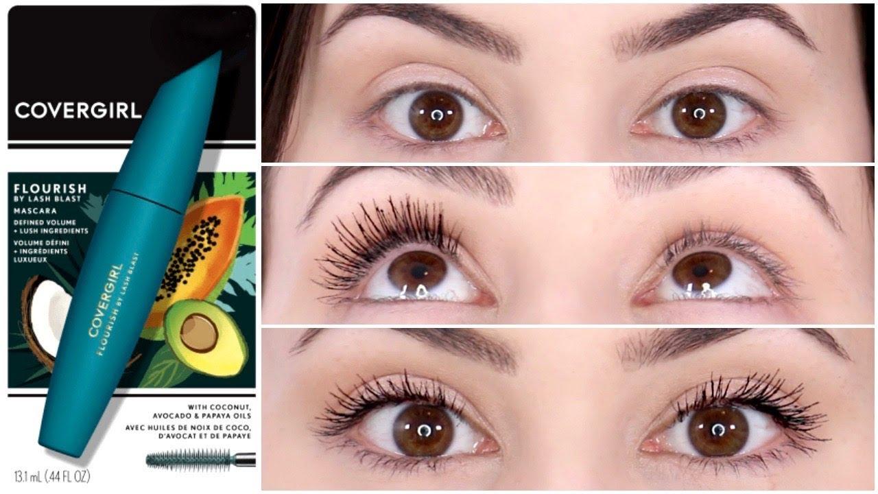 8cbfa2ab92e New Drugstore Mascara || COVERGIRL Flourish by Lash Blast Mascara Review &  Wear Test - Vloggest