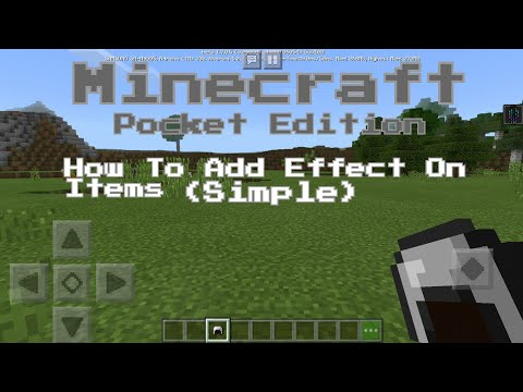 Minecraft Pocket Edition - How To Add Effect On Items (Simple) [MCPE]