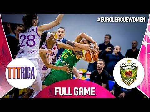 LIVE🔴 - TTT Riga v Sopron Basket - EuroLeague Women 2018-19