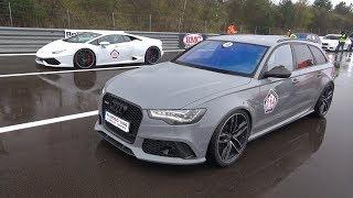 Audi RS6 Avant C7 vs Lamborghini Huracan LP610-4! LOUD SOUNDS!