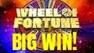 BIG WIN! WHEEL OF FORTUNE SLOT MACHINE- BONUSES!