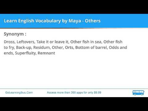 Learn English Vocabulary by Maya - Others - YouTube