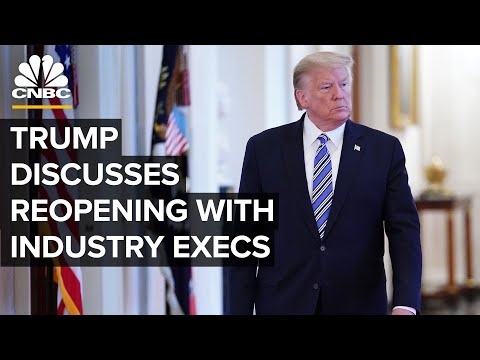 WATCH LIVE: President Trump meets industry executives to discuss reopening economy - 4/29/2020