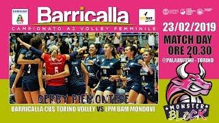 Barricalla CUS Torino Volley e LPM BAM Mondovì - Volley Pool Promozione Serie A2 Femminile