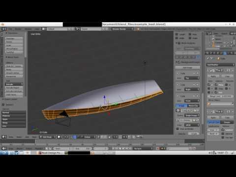 Blender yacht hull design steps