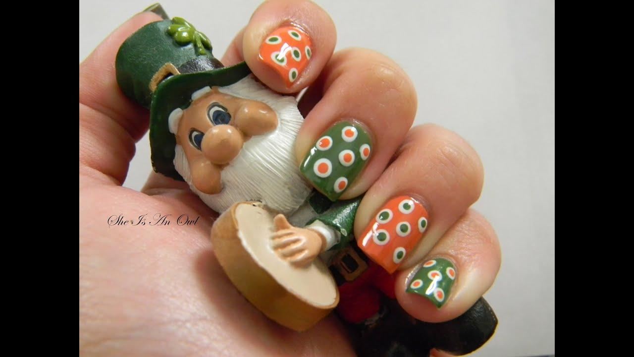 Polka Irish Nails (unghie irlandesi a pois) - St. Patrick\'s Day Nail ...