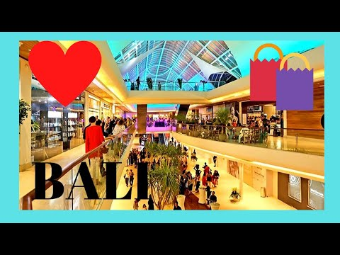 BALI, the BEACHWALK SHOPPING MALL at night, KUTA BEACH (INDONESIA)