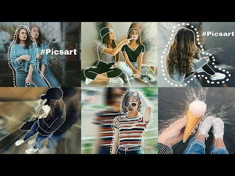 como hacer fotos tipos tumblr efecto blrur en picsart