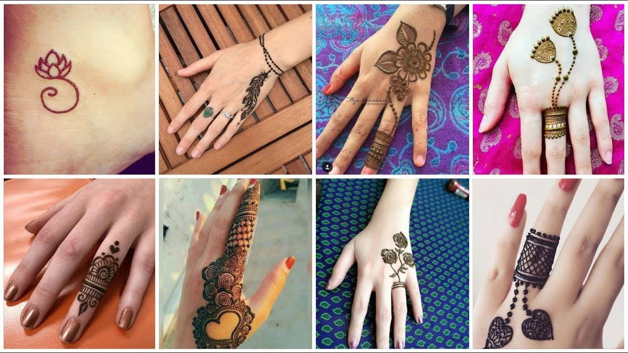 Cute Simple Fingers Mehndi Design Tattoo Style Mehndi Design Ideas For Girls
